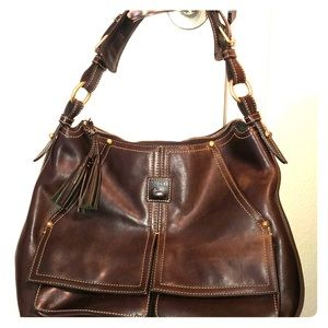 Brown leather Dooney and Bourke